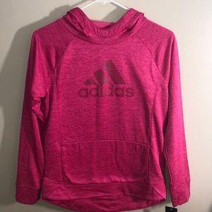 NWT Girls Adidas Hoodie Magenta Size XL (16)